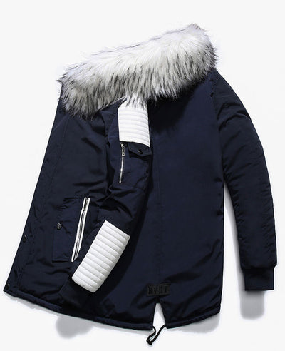 Warm Padded Mens Down Parka-7