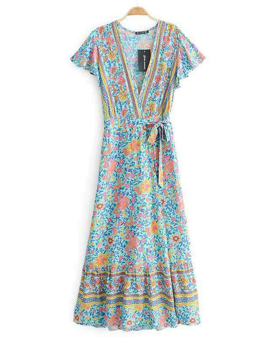 Women's Bohemian Warp Dress-11