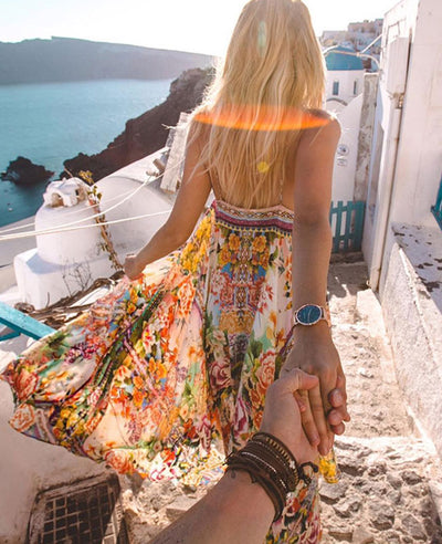 Womens Flowy Boho Maxi Dress-3