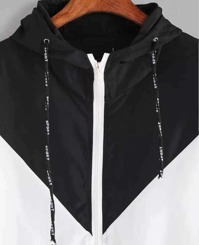 Zipper Pockets Hooded Jacket-9