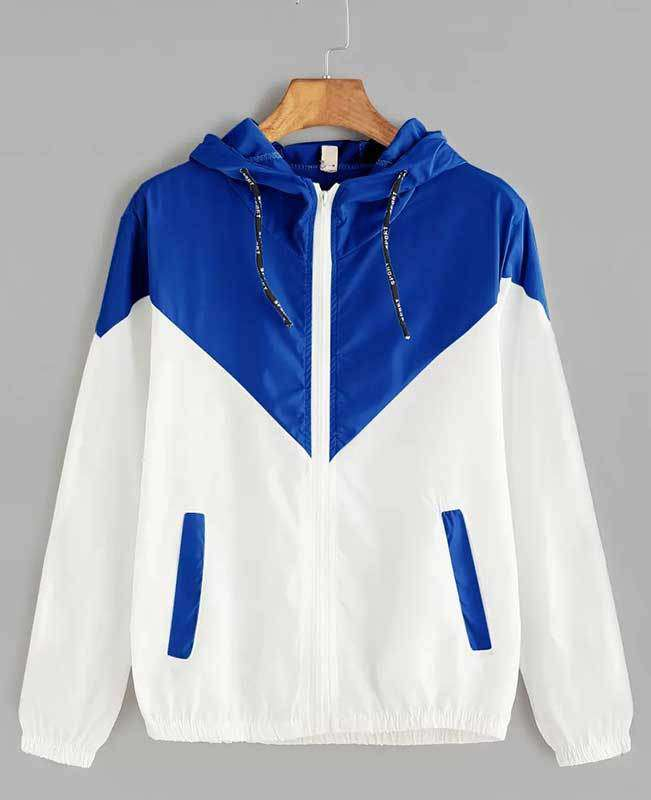 Zipper Pockets Hooded Jacket