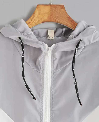 Zipper Pockets Hooded Jacket-10