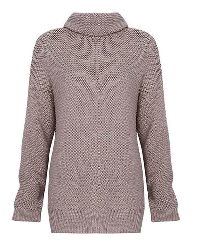 Cable Knit Oversized Women's Turtleneck Sweater