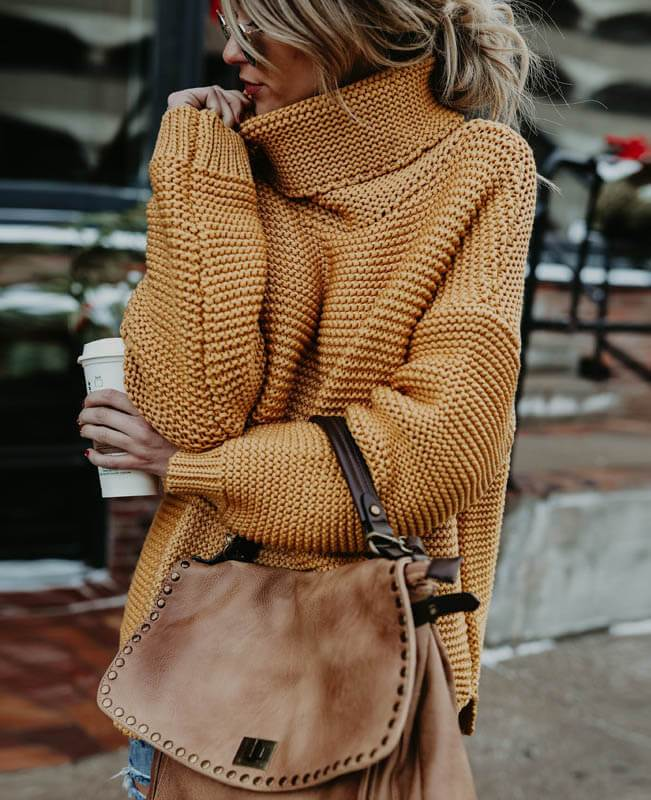 Women Oversized Chunky Sweater