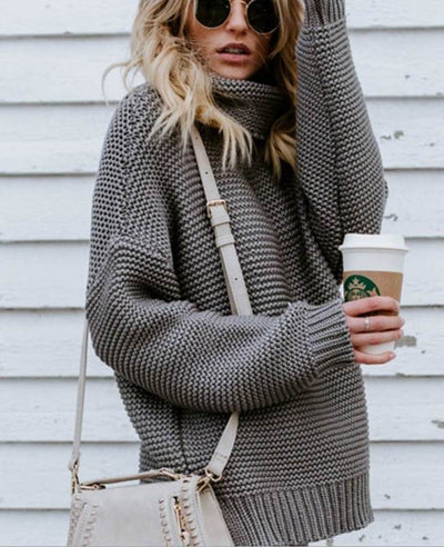 Women Oversized Chunky Sweater-4