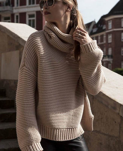 Women Oversized Chunky Sweater-5