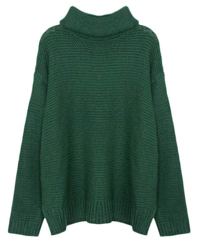 Women Oversized Chunky Sweater-6