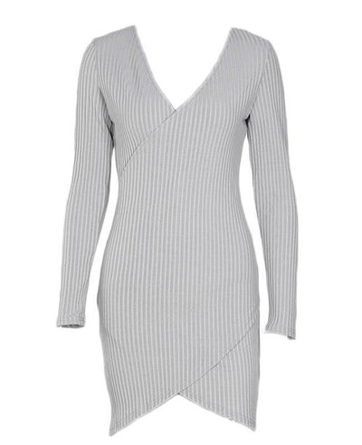 Front Cross Sexy Bodycon Mini Dress-8
