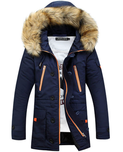 Hooded Thermal Winter Mens Parka Coats