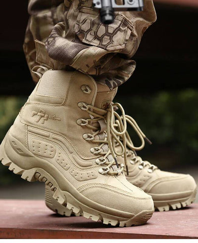 Men Military Lace Up Combat Boots