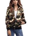 Short Military Bomber Ladies Camo Jacket-1