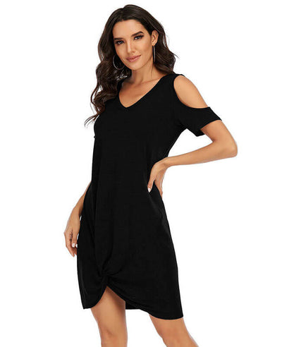 Off Shoulder T-Shirt Dress For Women