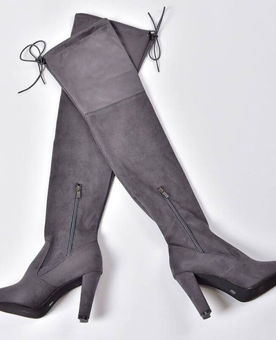 Thigh High Over the Knee Suede Boots-5