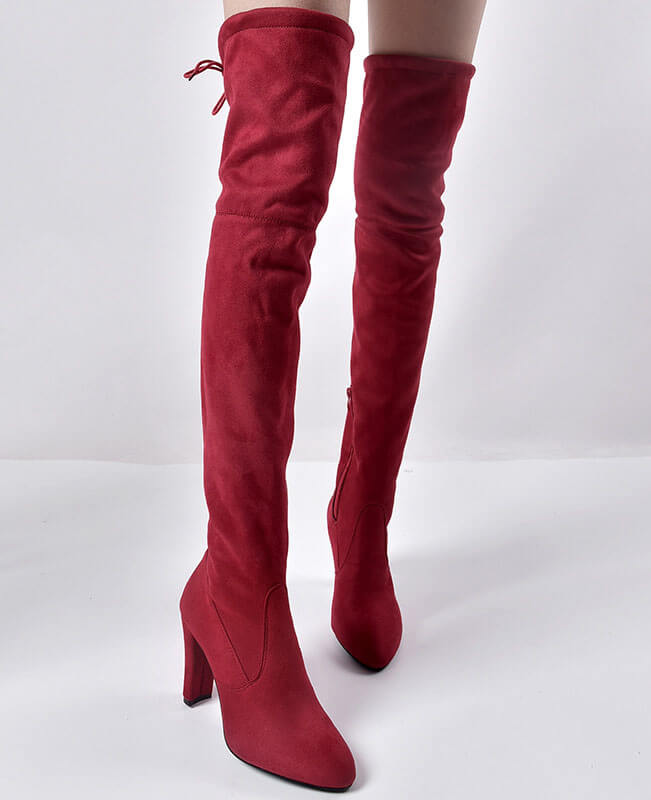 b8521bc1377 Thigh High Over the Knee Suede Boots   Seamido
