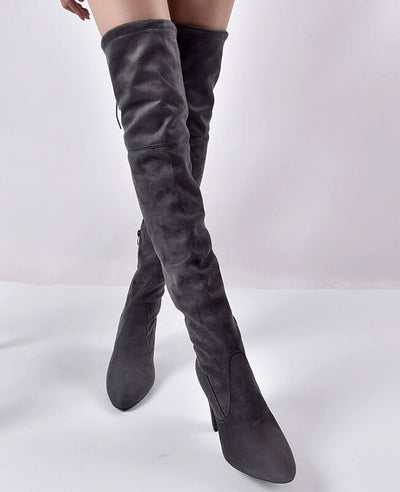 Thigh High Over the Knee Suede Boots-1
