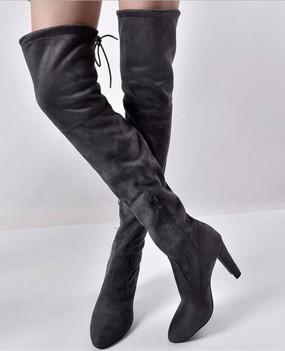 Thigh High Over the Knee Suede Boots-6