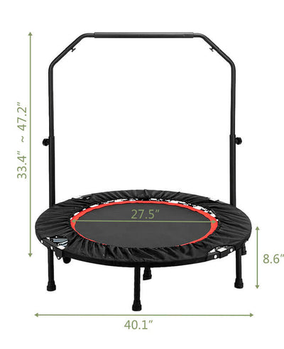 "40"" Indoor Trampoline For Adults Yoga Exercises"