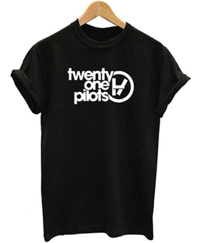 Twenty One Pilots Letters Print Casual Short Sleeve T-shirt