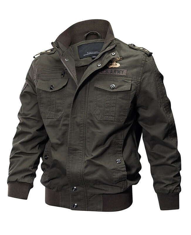Washed Cotton Military Tactical Jacket