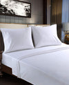 White microfiber bed sheets