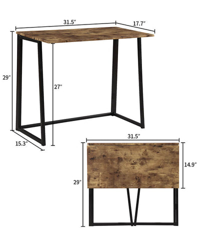 Wooden Folding Desk Table For Small Space Offices
