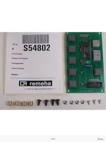 Remeha S54802 Display Print Board
