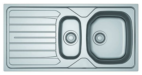 Basix Stainless Steel 1.5 Bowl Kitchen Sink and Tap Pack BS103