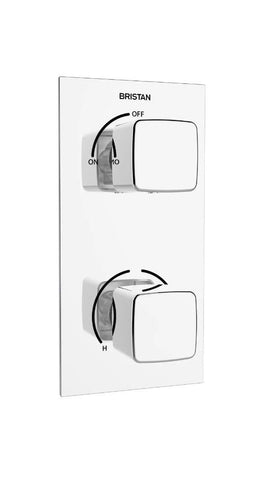 Bristan Cobalt Thermostatic Recessed Dual Control Shower Valve Diverter - Chrome