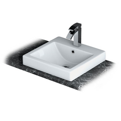 Lecico C46 Freestanding / Counter Top Basin / Bowl - 1 Tap Hole RRP £140
