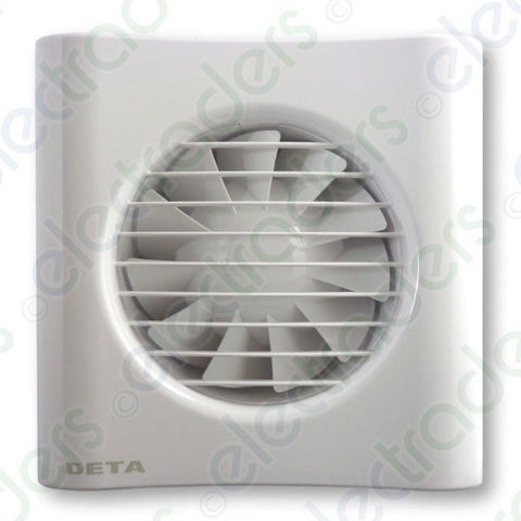 "Deta 4601 Axial Extractor Fan 4"" / 100mm (Timer Model) Inc Vat"