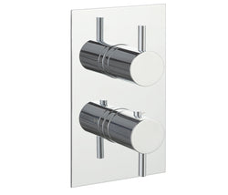JTP JustTapsPlus Florence Thermostatic Concealed 2 Outlets Shower Valve, MP 0.5