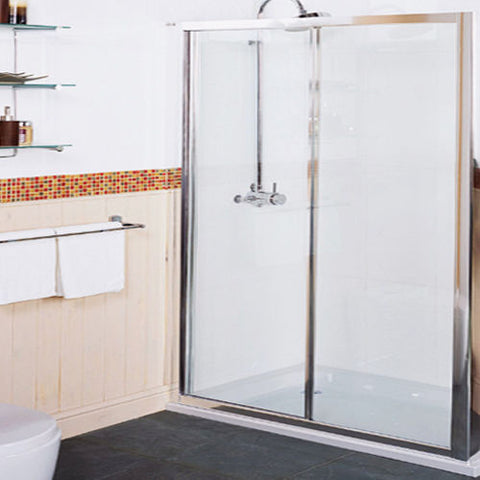 Roman Collage CT1213S 1200MM Silver Frame Shower Enclosure Sliding Door Only