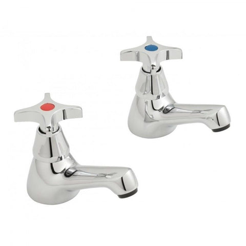 "VADO ASTRA TAP SINK PILLARS 1/2"" CROSS HEAD AND CD VALVES AST206/CD-C/P"
