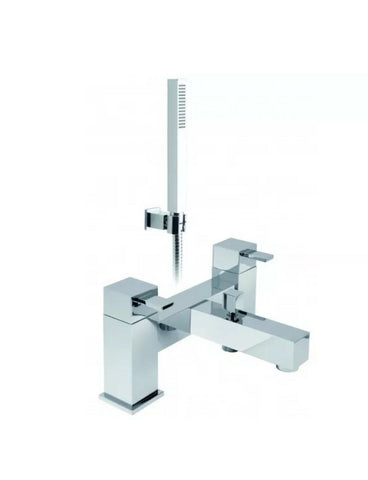 Vado TE 2 Hole Bath Shower Mixer Deck Mounted With Shower Kit TE-130+K-C/P