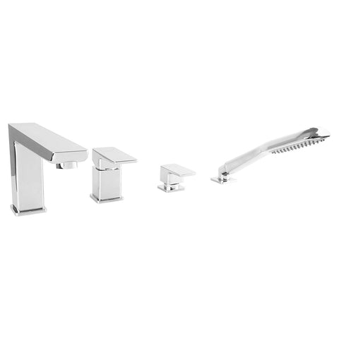 Omnires 4-Hole Complete Bathtub Mixer Parma PM7432 Chrome