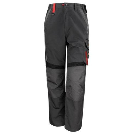 Result WorkGuard R310X RS310XGRYL Technical Trousers Grey/Black Large