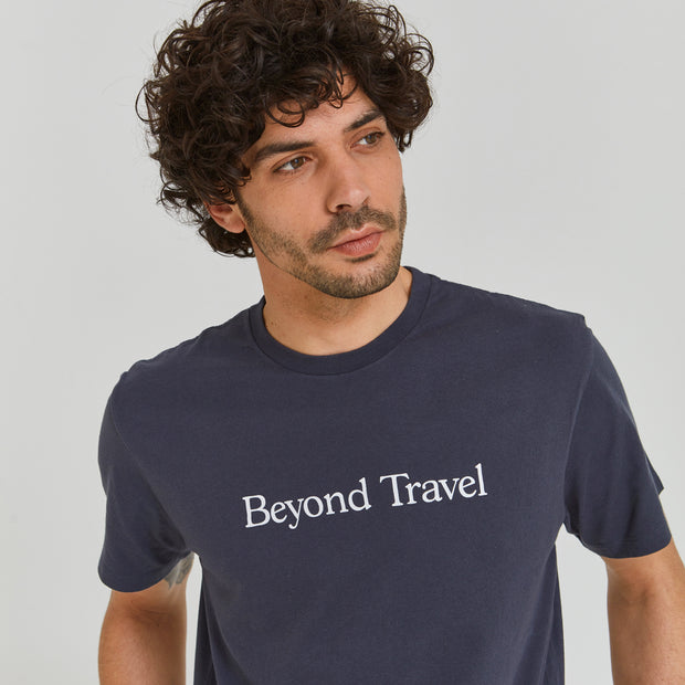 Beyond Travel Tee Night Blue