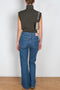 1992 mid rise flared Jeans by Acne Studios in Dark blue trash