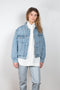 The Charli Jacket by Agolde is an oversized fit denim jacket in a lightwashed blueThe Charli Jacket by Agolde is an oversized fit denim jacket in a lightwashed blueThe Charli Jacket by Agolde is an oversized fit denim jacket in a lightwashed blue