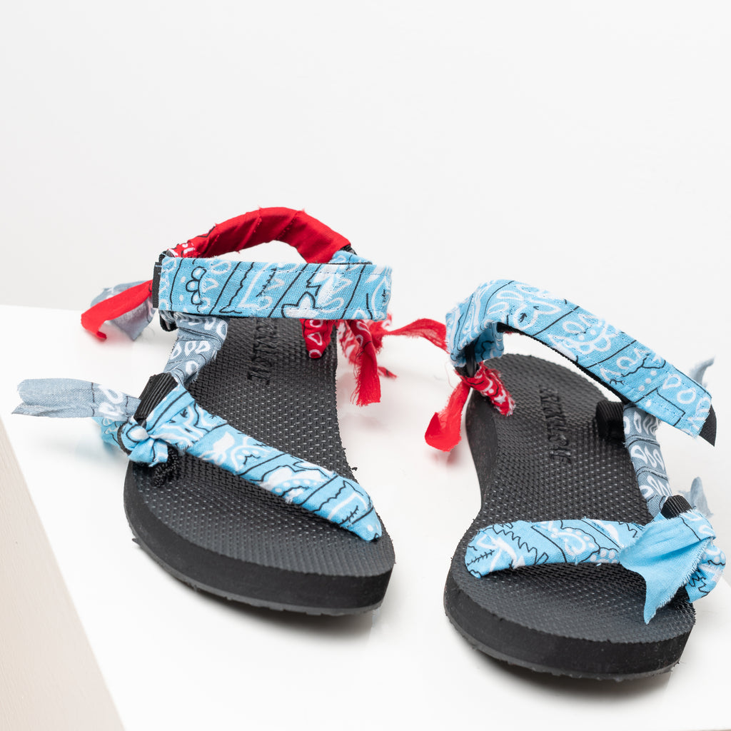 Trekky sandals by Arizona love in blue mix