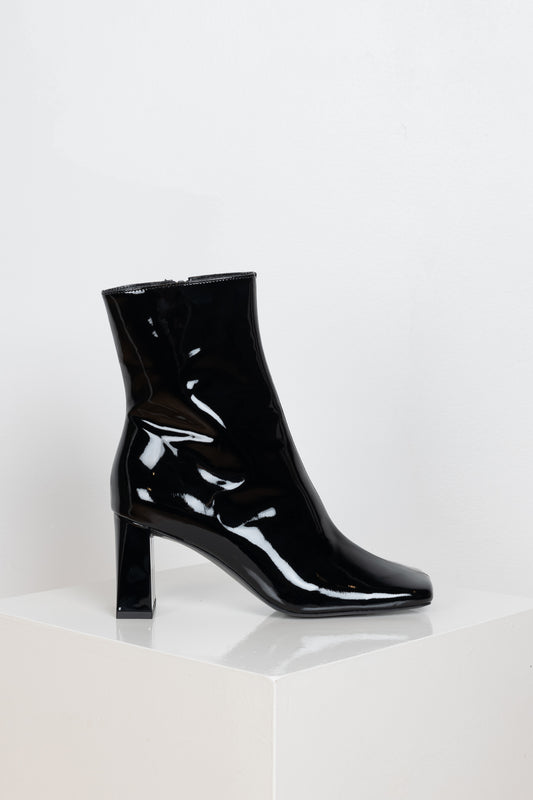 The Celine Boots in Black Patent by BYFAR
