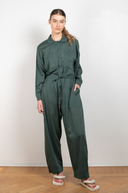 Emily jumpsuit by Can pep rey in toasted chestnut color