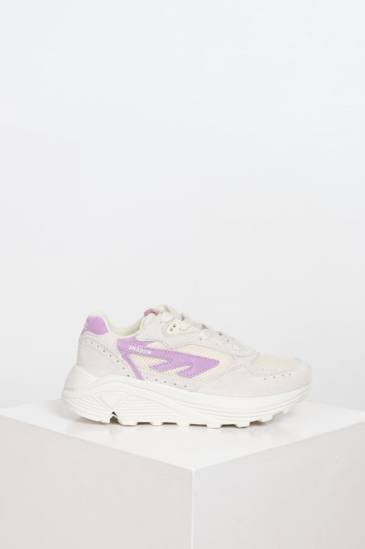The Hi-Tec Shadow sneakers with RGS sole in beige and purple