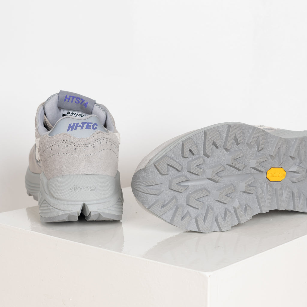 Hi-Tec Shadow sneakers in grey with purple detail