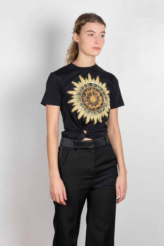 Paco Rabanne signature tee in black with golden print