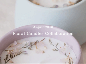 Floral Candles - An interlace of candles and ceramics