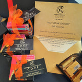 Golden Gift Card with Chocolate Consultation