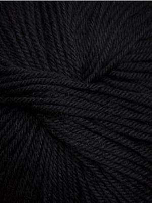 220 Superwash #815 Black - Mad Knitter's Yarn