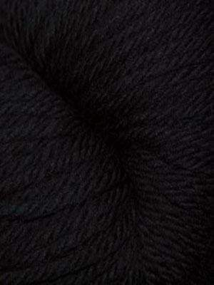 220 Superwash Aran #815 Black - Mad Knitter's Yarn