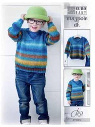 Euro Baby Maypole DK Boy's V-Neck Sweater Pattern - Mad Knitter's Yarn
